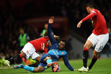 Ashley Young Danny Welbeck Manchester United v Arsenal