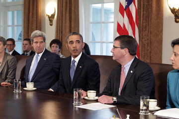 Ashton Carter Barack Obama Meets with His Cabinet