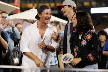 Ashton Kutcher Clayton Kershaw's 6th Annual Ping Pong 4 Purpose