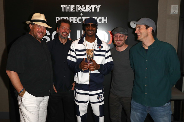 Sound Ventures Presents 'The Party' With A DJ Set By Snoop Dogg [event,team,competition event,talent show,snoop dogg,dj set,guy oseary,marc benioff,darren aronofsky,ashton kutcher,l-r,sound ventures presents ``the party,st. vincent,solo performance]