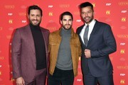 """(L-R) Edgar Ramirez, Darren Criss and Ricky Martin attend the premiere of """"The Assassination of Gianni Versace: American Crime Story"""" at the Metrograph on December 11, 2017, in New York. / AFP PHOTO / ANGELA WEISS"""