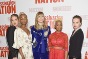 "Hari Nef, Abra,  Suki Waterhouse, Anika Noni Rose and Odessa Young attend The ""Assassination Nation"" New York Screening at Metrograph on September 17, 2018 in New York City."