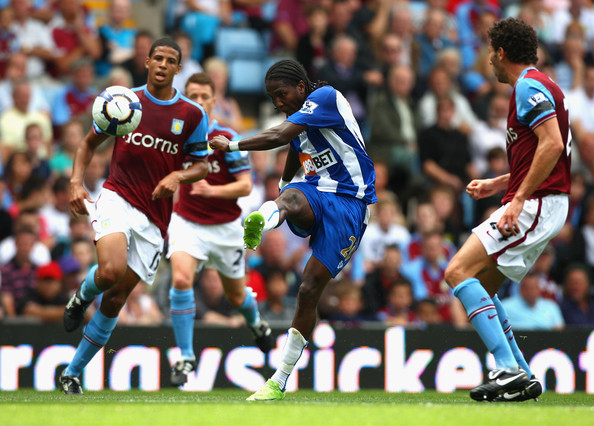 Aston Villa v Wigan Athletic - Premier League. In This Photo: Hugo Rodallega