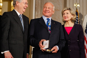 Mitch McConnell Astronauts Aldrin, Glenn, Armstrong, And Collins Awarded Congressional Gold Medal