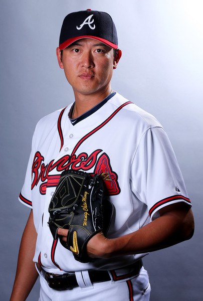 Chien-Ming Wang #30 of the Atlanta Braves poses for a portrait on March 2, 2015 at Champion Stadium in Lake Buena Vista, Florida.