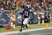 Chris Ivory #33 of the New York Jets scores a touchdown against the Atlanta Falcons in the second quarter during their pre season game at MetLife Stadium on August 21, 2015 in East Rutherford, New Jersey.