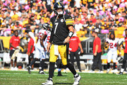 Ben Roethlisberger #7 of the Pittsburgh Steelers walks off the field after throwing an interception in the first half during the game against the Atlanta Falcons at Heinz Field on October 7, 2018 in Pittsburgh, Pennsylvania.