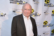 "Actor Ed Asner attends the Atomic Age Cinema Fest Premiere of ""The Man Who Saved The World"" at Raleigh Studios on April 27, 2016 in Los Angeles, California."