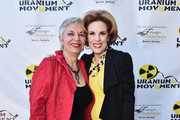 """Radio host Libbe HaLevy and actress Kat Kramer attend the Atomic Age Cinema Fest Premiere of """"The Man Who Saved The World"""" at Raleigh Studios on April 27, 2016 in Los Angeles, California."""