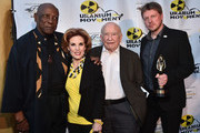 """Actor Louis Gossette Jr., actress Kat Kramer, actor Ed Asner and director Michael von Hohenberg attend the Atomic Age Cinema Fest Premiere of """"The Man Who Saved The World"""" at Raleigh Studios on April 27, 2016 in Los Angeles, California."""