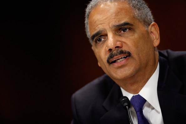 U.S. Attorney General Eric Holder answers questions while testifying before the Senate Judiciary Committee on Capitol Hill June 12, 2012 in Washington, DC. Holder faced questions from senators about the ongoing Operation Fast and Furious investigation, his decision to ordered two federal prosecutors to begin criminal investigations into a series of national security leaks to the news media and other subjects.