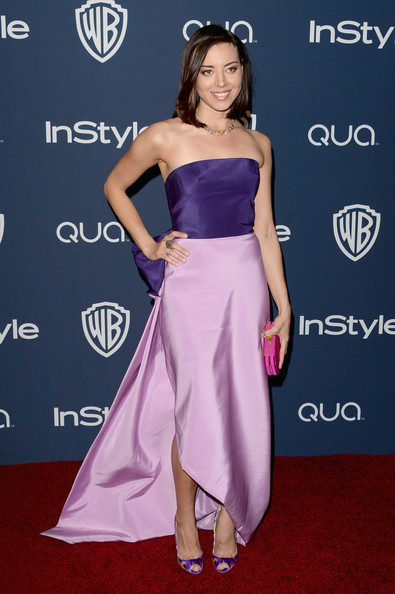 Aubrey Plaza - Arrivals at the InStyle/Warner Bros. Golden Globes Party — Part 2