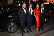 (L-R) Marco Perego, Graham Steele, Yana Peel, and guest attend 2018 LACMA Art + Film Gala honoring Catherine Opie and Guillermo del Toro presented by Gucci at LACMA on November 3, 2018 in Los Angeles, California.