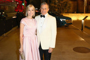 LACMA trustee Willow Bay (L) and Chairman and Chief Executive Officer of The Walt Disney Company Bob Iger attend 2018 LACMA Art + Film Gala honoring Catherine Opie and Guillermo del Toro presented by Gucci at LACMA on November 3, 2018 in Los Angeles, California.