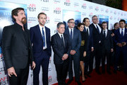 """(L-R) Actors Christian Bale, Ryan Gosling, chairman and CEO of Paramount Pictures Brad Grey, actors Steve Carell and Marisa Tomei, producer Jeremy Kleiner, director Adam McKay, composer Nicholas Britell and actor Byron Mann attend the closing night gala premiere of Paramount Pictures' """"The Big Short"""" during AFI FEST 2015 at TCL Chinese Theatre on November 12, 2015 in Hollywood, California."""