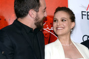 Director Pablo Larrain (L) and actress Natalie Portman (L) attend the premiere of 'Jackie' at AFI Fest 2016, presented by Audi at The Chinese Theatre on November 14, 2016 in Hollywood, California.