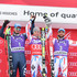 Dominik Paris Photos - (FRANCE OUT) Alexis Pinturault of France takes 1st place, Dominik Paris of Italy takes 2nd place, Thomas Mermillod-Blondin of France takes 3rd place during the Audi FIS Alpine Ski World Cup Men's Super Combined on February 19, 2016 in Chamonix, France. - Audi FIS Alpine Ski World Cup - Men's Combined
