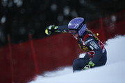 Tessa Worley of France in action during the Audi FIS Alpine Ski World Cup Women's Giant Slalom on January 07, 2017 in Maribor, Slovenia
