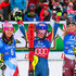 Frida Hansdotter Photos - Wendy Holdener of Switzerland takes 2nd place, Mikaela Shiffrin of USA takes 1st place, Frida Hansdotter of Sweden takes 3rd place during the Audi FIS Alpine Ski World Cup Women's Slalom on December 28, 2017 in Lienz, Austria. - Audi FIS Alpine Ski World Cup - Women's Giant Slalom