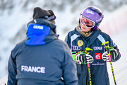 Tessa Worley of France during the inspection of the Audi FIS Alpine Ski World Cup Women's Giant Slalom on October 28, 2017 in Soelden, Austria.