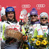 Viktoria Rebensburg Photos - (FRANCE OUT) Team Germany takes 1st place (Maria Riesch, Viktoria Rebensburg, Fritz Dopfer, Felix Neureuther, Stephan Keppler, Susanne Riesch) during the Audi FIS Alpine Ski World Cup Nations Team Event on March 20, 2011 in Lenzerheide, Switzerland. - Audi FIS World Cup - Men and Women's Nations Team Event