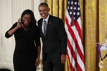 Audra McDonald President Obama Awards 2015 National Medal Of Arts And National Humanities Medal