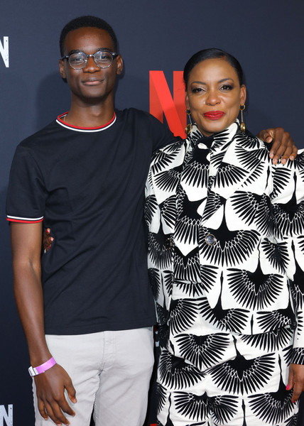 FYC Event For Netflix's 'When They See Us' - Arrivals [eyewear,clothing,fashion,fashion design,outerwear,event,model,style,t-shirt,performance,arrivals,actors,aunjanue ellis,ethan herisse,when they see us,lot,netflix,fyc,event,fyc event]
