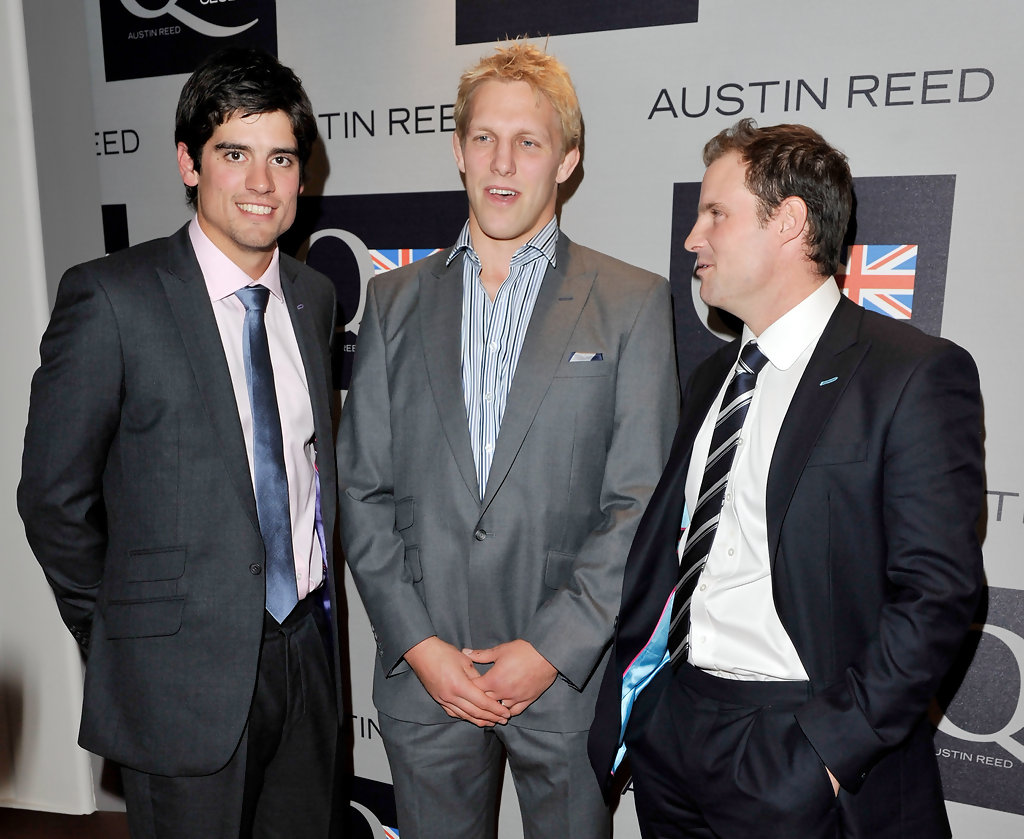Andrew Strauss Lewis Moody Alastair Cook Lewis Moody And Alastair Cook Photos Austin Reed Q Club Launch Zimbio