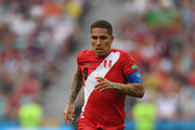 Peru player Paolo Guerrero in action during the 2018 FIFA World Cup Russia group C match between Australia and Peru at Fisht Stadium on June 26, 2018 in Sochi, Russia.