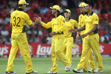 Mitchell Johnson Ricky Ponting Australia v Canada: Group A - 2011 ICC World Cup