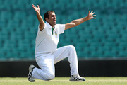 Imran Tahir of South Africa apeals during day one of the International tour match between Australia A and South Africa at Sydney Cricket Ground on November 2, 2012 in Sydney, Australia.
