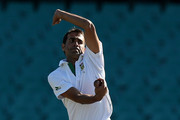 Imran Tahir of South Africa bowls during day one of the International tour match between Australia A and South Africa at Sydney Cricket Ground on November 2, 2012 in Sydney, Australia.