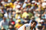 Imran Tahir of South Africa bowls during day three of the Second Test Match between Australia and South Africa at Adelaide Oval on November 24, 2012 in Adelaide, Australia.