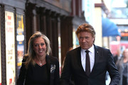 Richard Wilkins and Virginia Burmeister attends the memorial service for Harry M. Miller at Capitol Theatre on August 3, 2018 in Sydney, Australia.