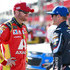 Kasey Kahne Dale Earnhardt Jr. Photos - Dale Earnhardt Jr, driver of the #88 Axalta Chevrolet, talks with Kasey Kahne, driver of the #5 Farmers Insurance Chevrolet, during qualifying for the Monster Energy NASCAR Cup Series Auto Club 400 at Auto Club Speedway on March 24, 2017 in Fontana, California. - Auto Club Speedway - Day 1