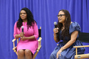 "City of Compton Mayor, Aja Brown and director Ava DuVernay attend a special advance private screeing of ""A Wrinkle in Time"" attended by students from various middle schools around the city of Compton on March 2, 2018 in Compton, California."