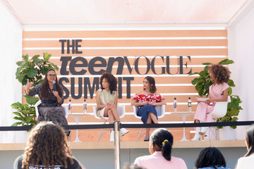 Ava DuVernay Storm Reid The Teen Vogue Summit LA: Keynote Conversation With 'A Wrinkle In Time' Director Ava Duvernay and Actresses Rowan Blanchard and Storm Reid