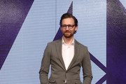 Tom Hiddleston attends the press conference for 'Avengers: Infinity War' Seoul premiere on April 12, 2018 in Seoul, South Korea.