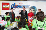 (L-R) Paul Rudd, Chris Hemsworth, Scarlett Johansson and Jeremy Renner attend Avengers Universe Unites, a charity event to celebrate the donation of more than $5 million in cash and toys to nonprofits supporting children with critical illnesses, at Disney California Adventure Park on April 5, 2019 in Anaheim, California.