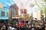 (L-R) Paul Rudd, Scarlett Johansson, Robert Downey Jr., The Walt Disney Company Chairman and CEO Bob Iger, Brie Larson, Chris Hemsworth and Jeremy Renner attend Avengers Universe Unites, a charity event to celebrate the donation of more than $5 million in cash and toys to nonprofits supporting children with critical illnesses, at Disney California Adventure Park on April 5, 2019 in Anaheim, California.
