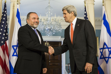 Avigdor Lieberman John Kerry Meets with Avigdor Lieberman