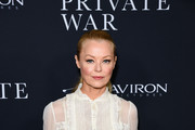 "Charlotte Ross attends Aviron Pictures' Los Angeles Premiere Of ""A Private War""  at Samuel Goldwyn Theater on October 24, 2018 in Beverly Hills, California."