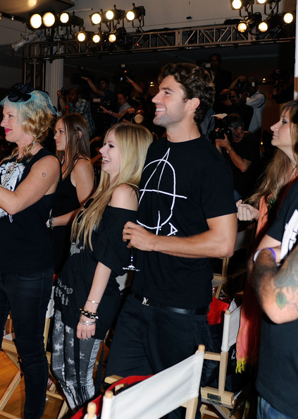 Abbey Dawn By Avril Lavigne - Arrivals And Front Row - Spring 2012 Style360 [fashion,event,crowd,footwear,performance,party,hip,avril lavigne,avril lavigne - arrivals,brody jenner,front row,l-r,american,metropolitan pavilion,new york city,abbey dawn,fashion show]