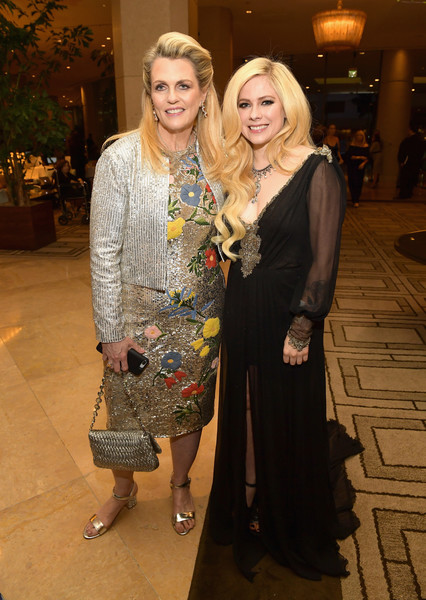25th Annual Race To Erase MS Gala - Red Carpet [fashion,lady,fashion design,yellow,event,dress,blond,fun,style,formal wear,founder,avril lavigne,nancy davis,gala,red carpet,ms,the beverly hilton hotel,beverly hills,l,race]