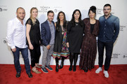 Shaul Schwarz, Amy Berg,  Jennifer Tiexier, Sarita Khurana, Smriti Mundhra, Jennifer Tiexiera  and Zachary Quinto attend Awards Night during the 2017 Tribeca Film Festival at BMCC Tribeca PAC on April 27, 2017 in New York City.