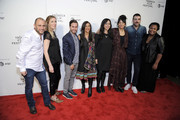 Shaul Schwarz, Amy Berg,  Jennifer Tiexier, Sarita Khurana, Smriti Mundhra, Jennifer Tiexiera, Zachary Quinto and Alexandra Hannibal attend Awards Night during the 2017 Tribeca Film Festival at BMCC Tribeca PAC on April 27, 2017 in New York City.
