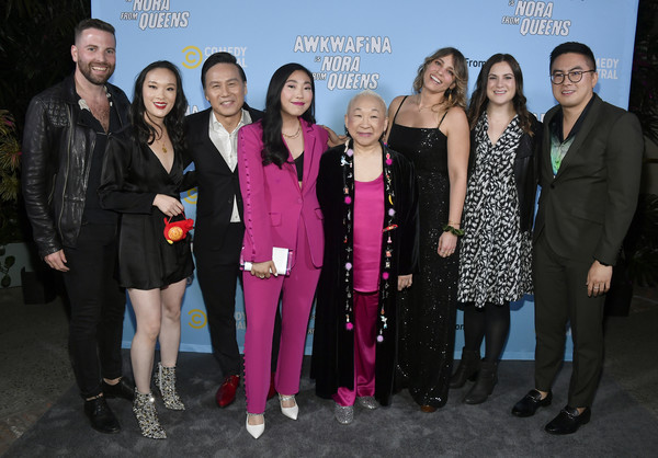 Comedy Central's Awkwafina is Nora From Queens Premiere Party [social group,event,fashion,pink,premiere,team,performance,tourism,leisure,fashion design,awkwafina,will decamp,teresa hsiao,sarah babineau,lori tan chinn,rachel olson,bd wong,l-r,nora from queens premiere party,comedy central,awkwafina,bowen yang,b. d. wong,lori tan chinn,teresa hsiao,awkwafina is nora from queens,getty images,photography,stock photography]