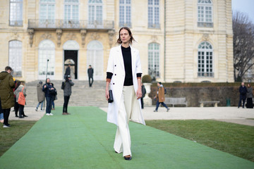 Aymeline Valade Christian Dior : Outside Arrivals - Paris Fashion Week - Haute Couture Spring Summer 2017