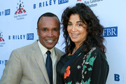 "Sugar Ray Leonard and Bernadette Leonard attend the Sugar Ray Leonard Foundation 9th Annual ""Big Fighters, Big Cause"" Charity Boxing Night presented by B. Riley FBR, Inc. at the Loews Santa Monica Beach Hotel on May 23, 2018 in Santa Monica, California."