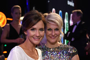 Judith Berger (L) and Natascha Gruen (R) attend the Bambi Awards 2015 party at Atrium Tower on November 12, 2015 in Berlin, Germany.